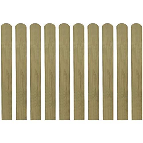 Festnight 30 STK.Zaunlatte Holzzaun Gartenzaun Zaunbrett für Garten Patio Terrasse 80 cm Imprägniertes Holz