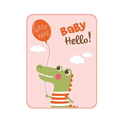 Almohadilla de orina de seda para bebé, colchón impermeable para bebé, tapete de fibra lavable transpirable (rosa)