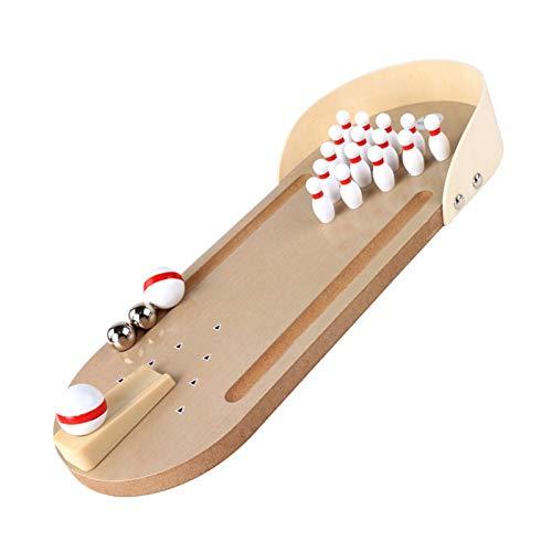 Desktop Bowling, Mini Bowling Set Holz Tischbowling Spiel, Bowlingbahn Tisch Bowling Bahn Für Kinder Geeignet, Um Zu Spielen Und Stress Abzubauen