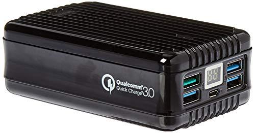 Zendure A8QC Power Bank con 26800mAh (Resistente, 4-Port Quick Charge 3.0, 18W Power Delivery per iPhone, Tablet, Samsung Galaxy e Tanti Altri, USB, per Bagaglio a Mano), Nero