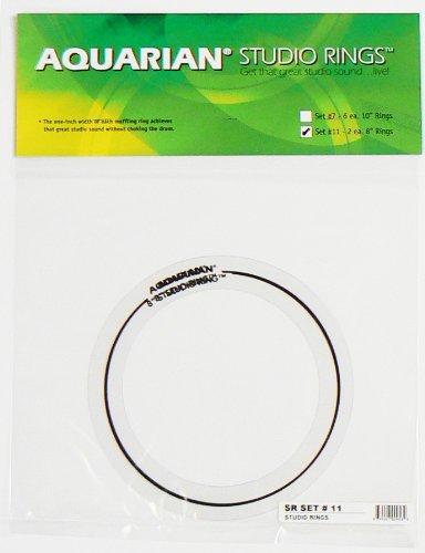 Aquarian Drumheads SR SET#11 Studio Rings two 8-inch