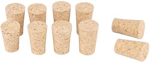 Tappi in sughero naturale per vino, tappi in legno conici, tappi in legno per bottiglie di vino, sughero naturale, tappi di ricambio per birra di vino (S: 20 x 15 x 35 mm)