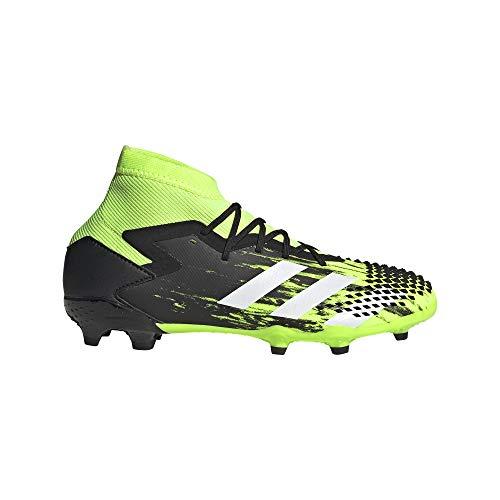 adidas Predator Mutator 20.1 FG Niño, Bota de fútbol, Signal Green-White-Core Black, Talla 4.5 UK (37 1/3 EU)