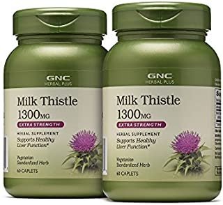 gnc milk thistle 1300mg 120