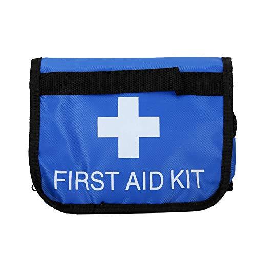 Botiquín de primeros auxilios, viaje al aire libre multifunción portátil, botiquín de primeros auxilios para el cuidado en el hogar(Azul)