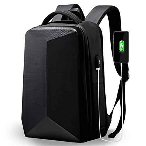 Men's Laptop Backpack, Black Anti-Theft USB Charging Port Backpack, Fashion Casual Student School Bag Mountain Bike Travel Backpack School Backpack