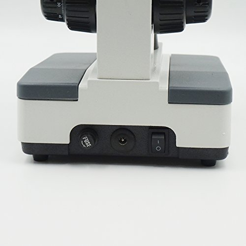 OPTO-EDU A11.1133-D1 Siedentopf Binocular Compound Microscope, 40X-2000X Magnification, Bright Field, LED Illumination, Abbe Condenser, Double-Layer Mechanical Stage, Metal, Glass, Plastic