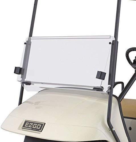 EZGO TXT 1995-2013 Clear Fold Down Impact Resistant Windshield for EZGO TXT Golf Cart