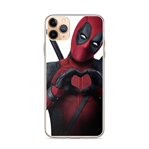 Arhejer Compatible with iPhone 11 Pro Max Case Deadpool Wade Wilson Heart Pure Clear Phone Cases Cover