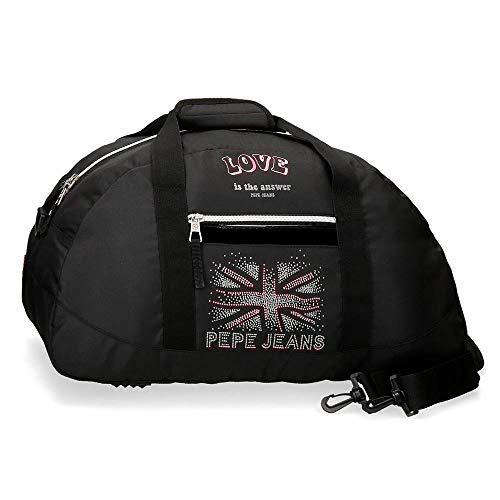 Pepe Jeans Ada Bolsa de Viaje Negro 50x27x20 cms Poliéster 27 L