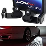 iJDMTOY Bimmer Style Angel Wing Micro-Optic LED Welcome Light Carpet, Universal Fit Compatible With Any Car SUV Truck As Side Door Step Courtesy Floor Illumination