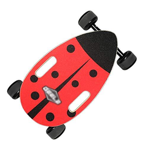 FsoZms Volledig Lichtgewicht Skateboard 17.5 inch Drift Series, Mini esdoorn Breed en Stabiel Surf Deck, Skateboard niet-elektrische eierplank voor beginners en stad pendelaars
