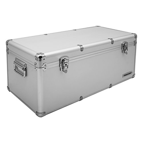 Aluminium-Rahmenkoffer Transport-Box, Koffer in Silber mit 54 Liter Volumen