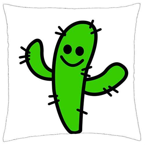 BXBX Throw Pillow Cover (18x18 Inch) - Planta de Cactus Espinas Planta del Desierto México Naturaleza