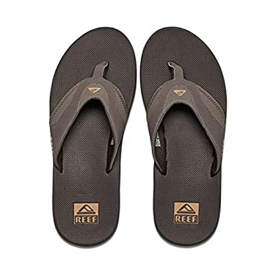 Reef Men's Fanning Flip Flop, BROWN/GUM, 11 D - Medium