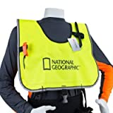 National Geographic Snorkeler Snorkel Vest Heavy Duty HD Crotch Strap, w/Hi Vis 3M Piping Neon Yellow (STND)