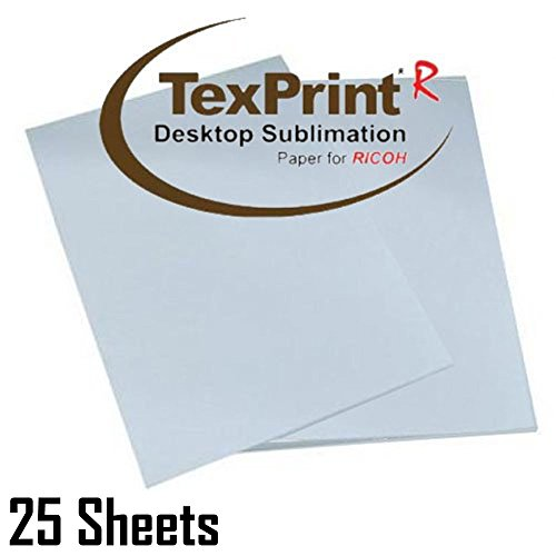 """Texprint Dye Sublimation Paper for Ricoh Printers 8.5""""X11"""", Dye Sublimation Transfer Paper(Pack of 25 Sheets)Comes with Innosub Heat Tape Resistant"""