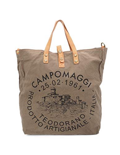 Campomaggi 001660ND X0009 F2513 Shopper khaki/naturaus 100% Canvas