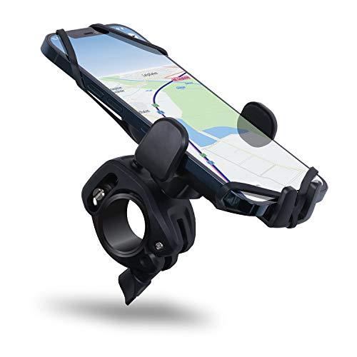 Wicked Chili Soporte de Bicicleta Compatible con iPhone 12 Pro MAX, 11 Pro, Samsung A51, A22, S20, FE 20 y móvil de 3.5 a 6.5 Pulgadas, 360°, Soporte de Smartphone para Moto (MAX H 165mm / W 90mm)