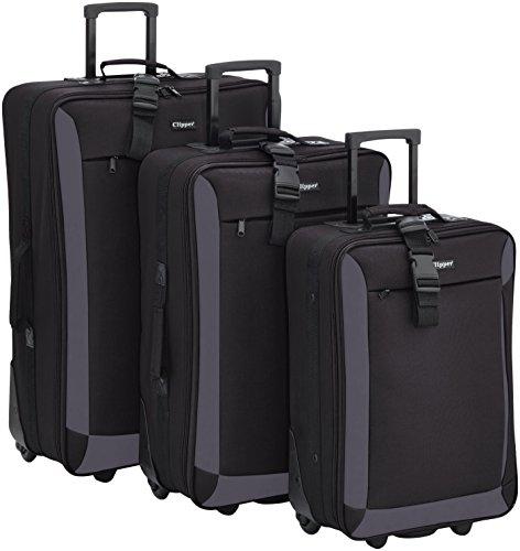Clipper Set di valigie 301NO Nero 82.0 liters