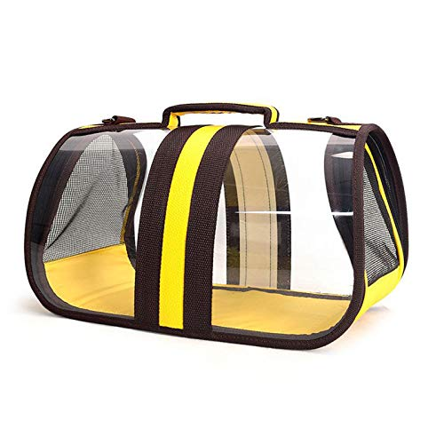 WANY Pet Carrier Backpack, Panoramic Transparent Space Portable Pet Capsule,Traveler Cat Dog Backpack Shoulder Carrier (L,A)