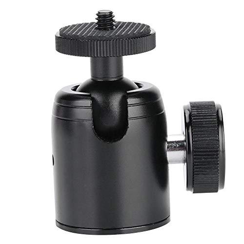 Bindpo Cabezal de Bola trípode panorámico 360 °, Adaptador de rótula montado en trípode de aleación de Aluminio con Tornillo de 1/4'para cámara Digital, DSLR, teléfono móvil, hasta 2 kg