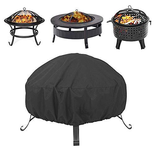 IWTTWY Schutzhülle für Feuerschale, rund, für Grill, Heavy Duty 210D, Oxford-Gewebe, wasserdicht, winddicht, UV-Schutz, für Garten und Außenbereich
