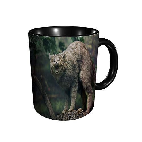 Hdadwy Waldkatze Gefüllte Waldkatze Keramikbecher Kaffee Tee Geschenk Geschenk Weihnachten Weihnachten 11oz