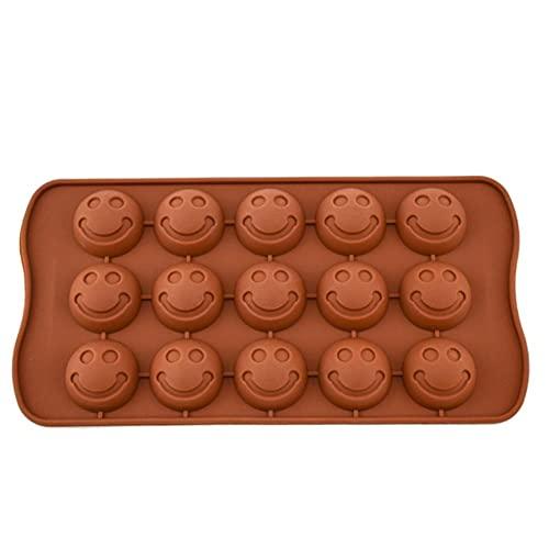 XMYNB Kuchenform 2 Stücke 15 Gitter Smiley Silikon Schokolade Fructose Kuchen Backform Pudding Eisgitter Süßigkeiten Formulieren Silikonform