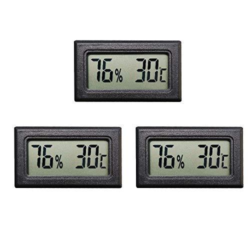Thlevel Mini LCD Digital Thermometer Hygrometer Temperatur Luftfeuchtigkeit Tester für Kühlschrank Aquarium (3PCS)
