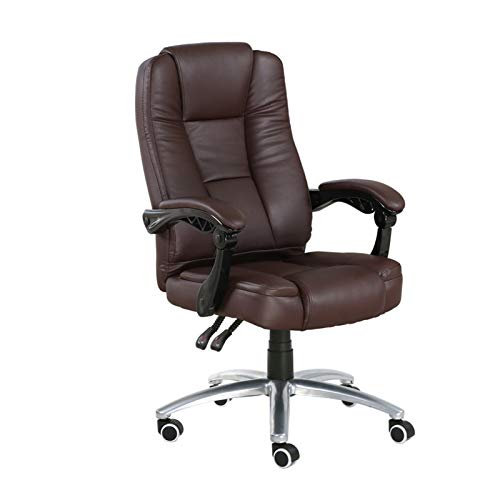 HIZLJJ Executive Office Chair Desk Chairs Furniture Computer Chair Home Swivel Chair Office Chair Staff Chair Casual Chair Suitable for Long-Sitting Chair Chairs Color : Brown (Size : A)
