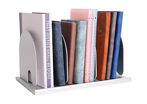 AWJ Support de Rangement Amovible pour Bureau Support de classement en Plastique réglable Extrémités de Livre Boîte de Rangement de Bureau Bibliothèque CD DVD de Stockage