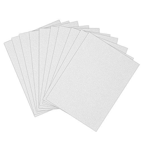 ULTNICE 10pcs Glitter Cardstock Papier Schein A4 Karte für Diy Craftwork