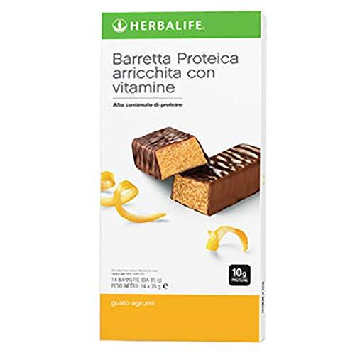 Herbalife Citrus Protein Energy Bars - Snack - Pack of 14 Bars