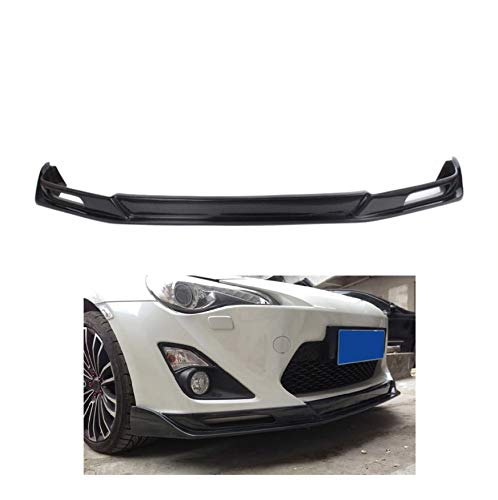 LQIAN Schutz Splitter Spoiler Tuning Frontlippe Splitter Diffuser, Carbon-Faser-Auto Frontstoßstange Spoilerlippe Chin Gepasst Fit for Toyota GT86 86 FT86 2013-2016 Auto Tuning-Teile (Color : Black)