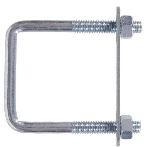 "Hillman 320900 Hardware Essentials Bolt Square Saddle Zinc (3/8""-16 x 5"" x 4"")"