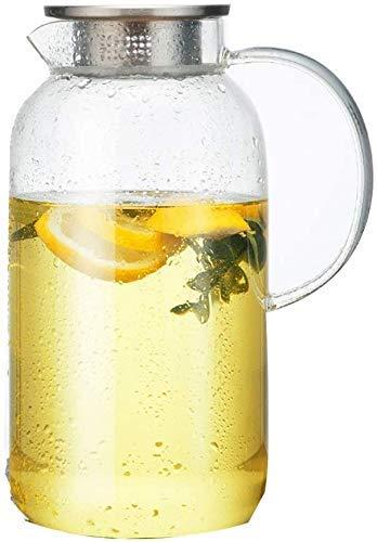 YJTGZ Botella de Agua fría para hervidor de Vidrio Grande de 2 litros Juego para el hogar Botella de Vidrio Resistente a explosiones hervidor de Calor Resistente al frío Color, 1.8L