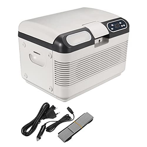 ZBYY Refrigerador de Coche 2 Métodos de Carga para Refrigeración Portátil y Calefacción Camping con Refrigerador de Coche de 12 L Refrigerador de Compresor de 75 W con Pantalla