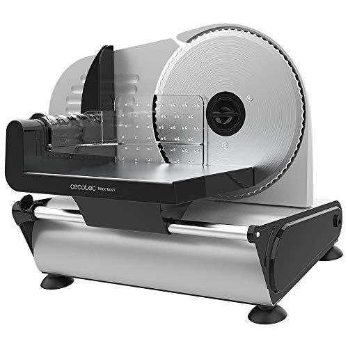 Cecotec Cortafiambres Rock'n Cut. 150 W, Disco de 190 mm de diámetro, Sistema de ajuste gradual, Máxima precisión de grosor de 0 a 15 mm