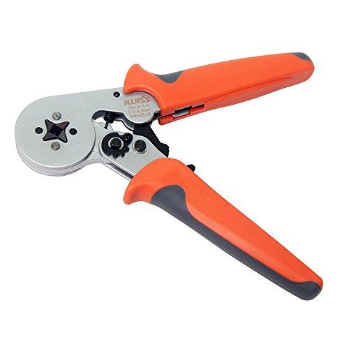 Signstek HSC8 6-4 Self-Adjustable Wire Crimper Plier Crimping Tools for 0.25-6.0mm2 Cable End-Sleeves