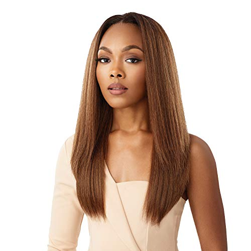 Outre Quick Weave Self Styled in 60 Seconds Neesha Soft & Natural New Half Wig Cap Laysflat Requires Less Leave Out NEESHA H302 (CHOFR)