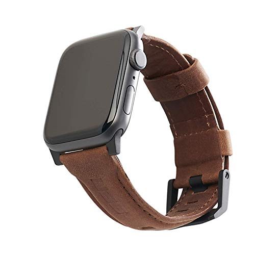 Urban Armor Gear Cuero Correa para Apple Watch (38mm) y Apple Watch (40mm) (Watch SE, Series 6 / Series 5 / Series 4 / Series 3 / Series 2 / Series 1, Correa reemplazable) marrón