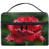 化粧ポーチ 機能的 大容量 オシャレ 祝い プレゼント ギフトガーベラの牡丹の花の芽は花束を包みます