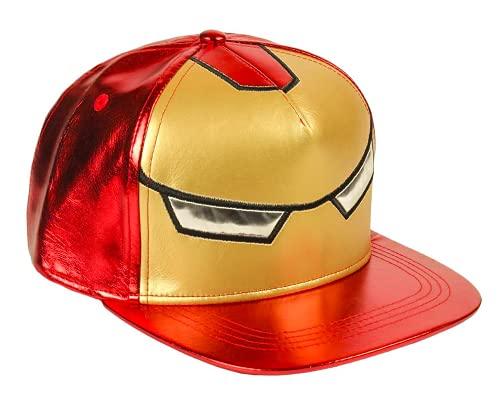 Marvel Avengers Hut für Jungen, Verstellbare Mütze, Atmungsaktives Leichtes Sommerhut, Hulk Iron Man Captain America Design, Geschenk für Jungen (Rot)