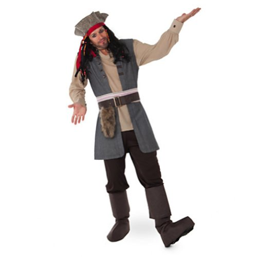 Disney Store Captain Jack Sparrow Costume for Adults Pirates of The Caribbean (Medium) Brown