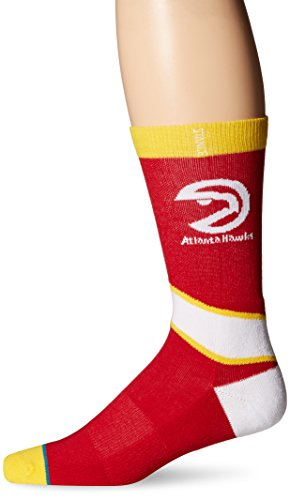 Stance Men's NBA Atlanta Hawks Crew Socks Red M