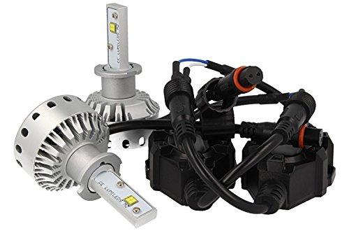Full LED Canbus H3 40W 5000 lumen dissipatie met ventilator 12 V 24 V 2 smd Philips MZ-aansluiting demonteerbaar vuur verstelbaar