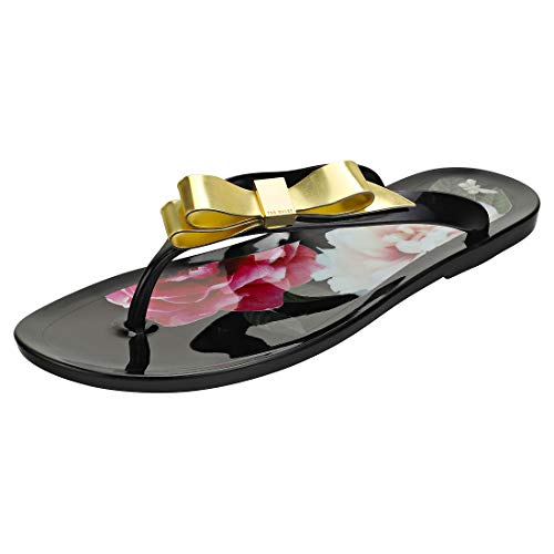 Ted Baker Suzzip Bow Detail Damen Sandalen Flip Flops Black - 38 EU