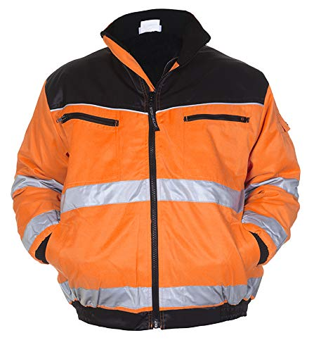 Hydrowear 047479 Helsinki Pilot jas, Bever, 50% Polyester/50% Katoen, Klein formaat, Oranje/Zwart