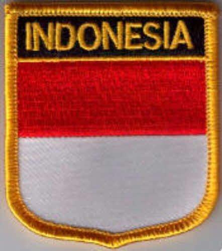 Flaggen Aufnäher Patch Indonesien Fahne Flagge - 7 x 6 cm